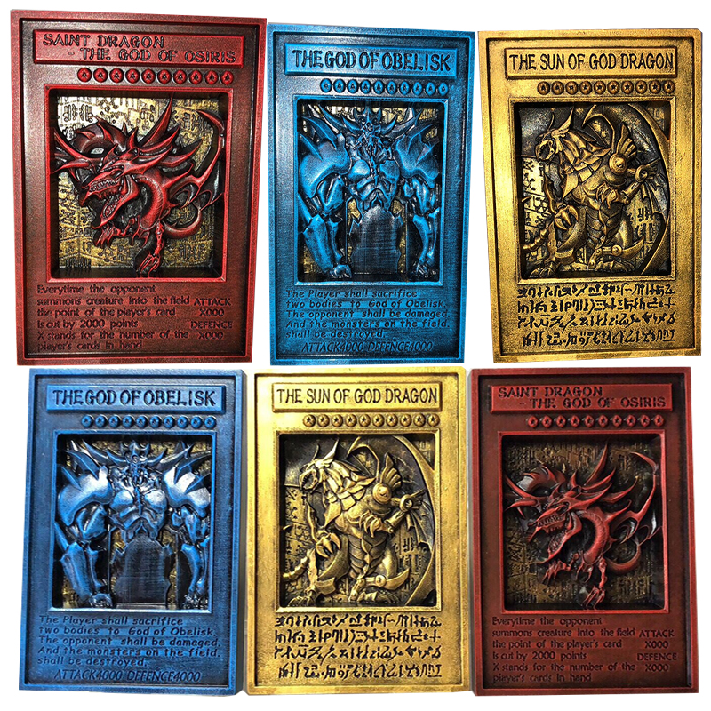 YU GI OH Gold Card Metal Card Local English TCG LC01 Three Magic God VOL Edition Collection Card Children Toys Gifts