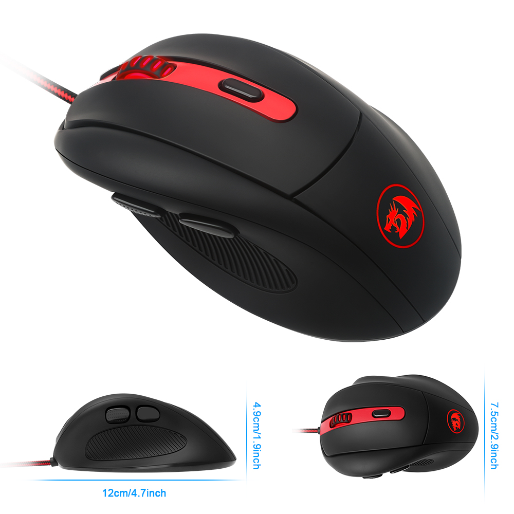 Redragon high quality USB Gaming Mouse 2000 DPI 6 buttons ergonomic design for desktop computer accessories mouse gamer lol PC