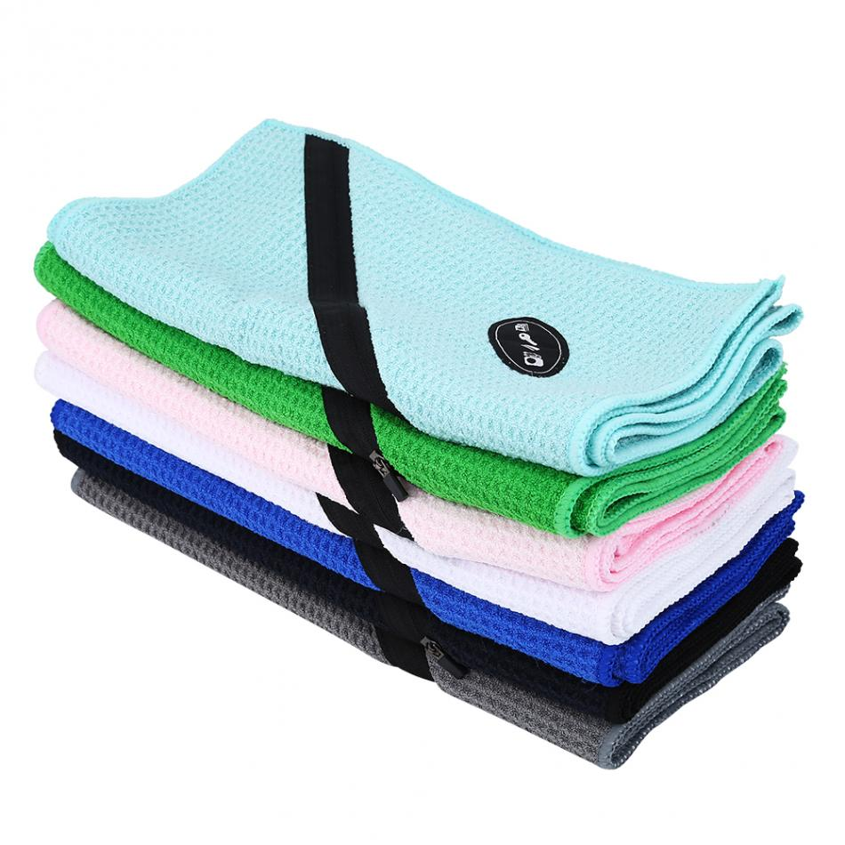 Exercise Towel With Pocket: 30*110cm Microfiber Swimming Towel Fitness Towel With