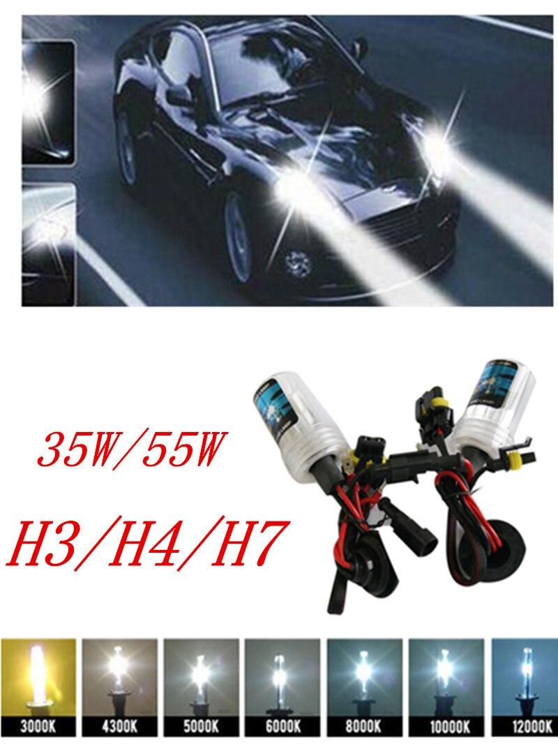 FangNymph 2017 2 PCS 12V-75W/35W H3 H4 H7 HID Lamp Bulb Light Headlight For All Cars 3000K-12000K Car Light Source