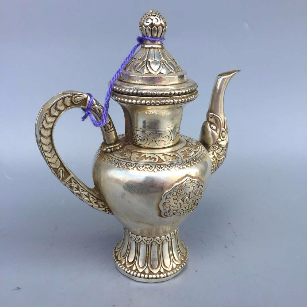Home decoration Teapot Metal crafts, Collection Tibet silver old Tibetan pot /Chinese antique tea potHome decoration Teapot Metal crafts, Collection Tibet silver old Tibetan pot /Chinese antique tea pot