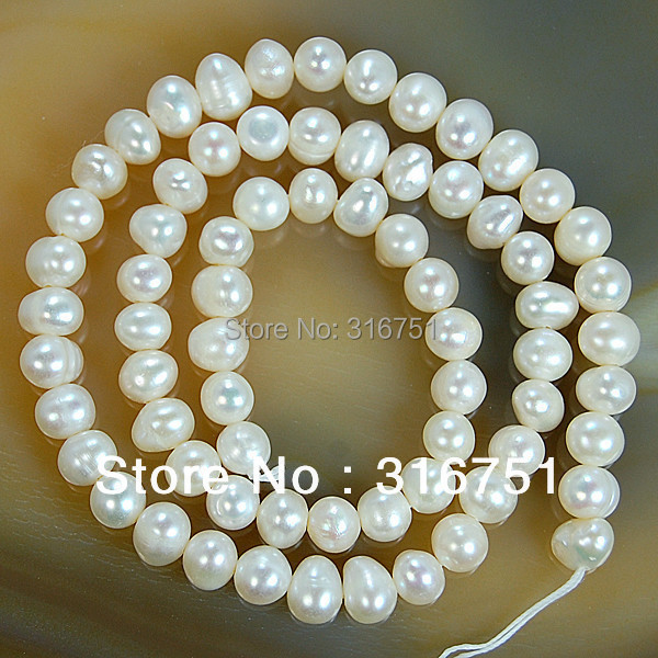 Hot Sale Natural Freshwater White Pearl Round Beads 15 quot 4mm 6mm 8mm 9mm 10mm 11mm for Jewelry Making Diy Bracelet Free Shipping in Beads from Jewelry amp Accessories