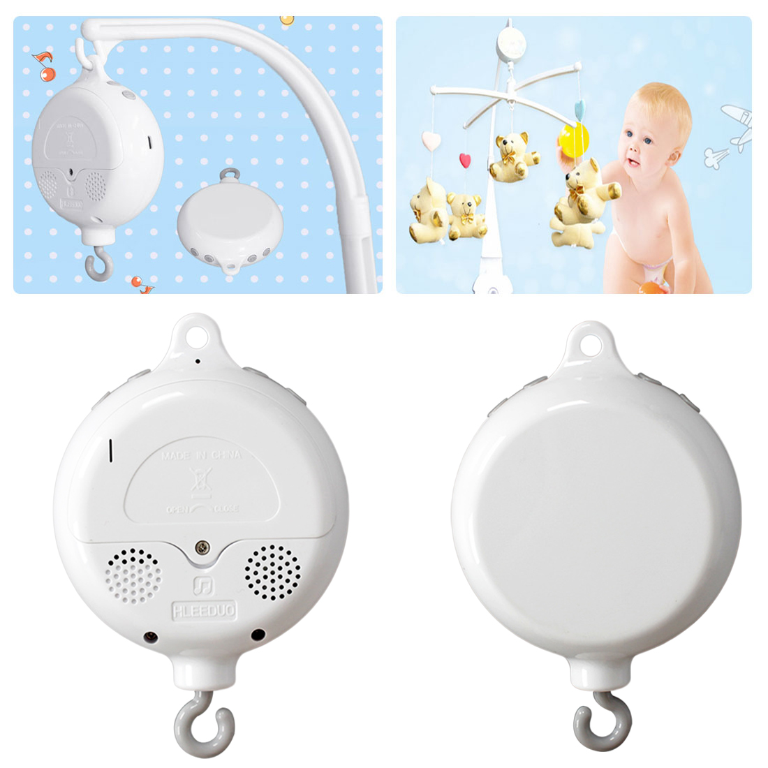 Crib Mobile Toy Song Rotating Baby Phone Bell Toy Battery Powered Baby Bed / Stroller Toy