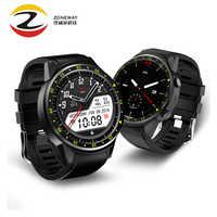 Prueba de sangre F1 reloj inteligente con soporte de altímetro de cámara tarjeta Sim GPS reloj inteligente ritmo cardíaco deportivo para IOS Android