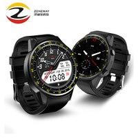 Prueba de sangre F1 reloj inteligente con cámara altímetro soporte de tarjeta SIM GPS smartwatch ritmo cardíaco reloj deportivo para ios android
