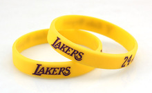4 Colors NBAStar Lakers Kobe Bryant Silicone Bracelets Basketball Star Silicon Wristband Fashion Item Popular Jerwerly