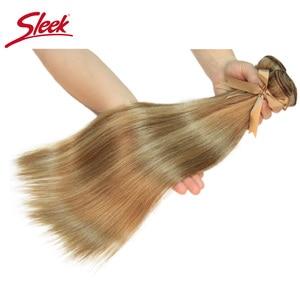 Image 3 - Sleek Remy P8/22 P27/613 P6/22 Bundles Peruvian Hair Weave 10 24 Inches Straight Human Hair Extension Blonde Hair Weave Bundle