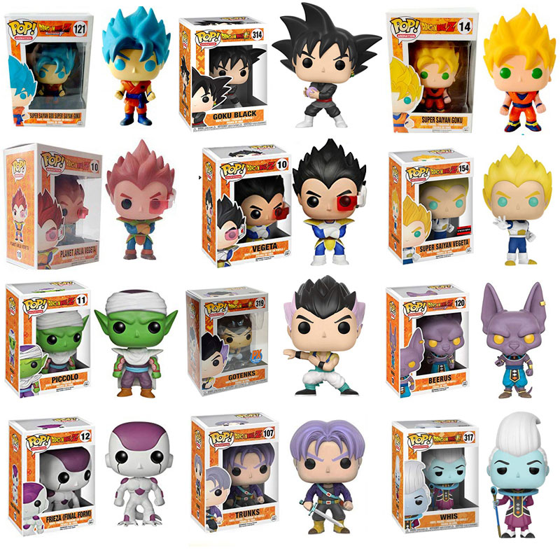 Original Funko Pop Amine Dragon Ball Super Goku Vegeta Super Saiyan Action Figure Dragon Ball Figurine Pop Collection Modle Toy funko pop marvel loki 36 bobble head wacky wobbler pvc action figure collection toy doll 12cm fkg120