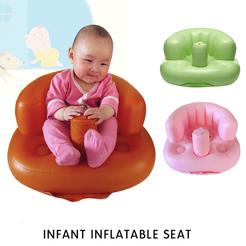 Infant Baby Inflatable Chair Seat Multi-function Sofa Portable Security Back Learning to Sit Seat