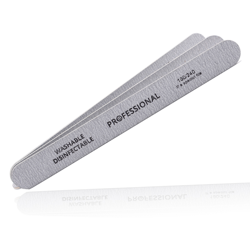 Image 2 - 10pcs/lot Sandpaper Nail File for gel nails 180/240 Professional Manicure Buffer Pedicure Double sided set de limas Nail Tools-in Nail Files & Buffers from Beauty & Health