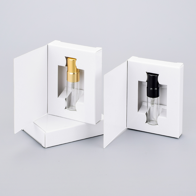 Wholesale 100 Pieces Lot 3ML Customizable Paper Boxes And Glass Perfume Bottle With Atomizer empty Parfum
