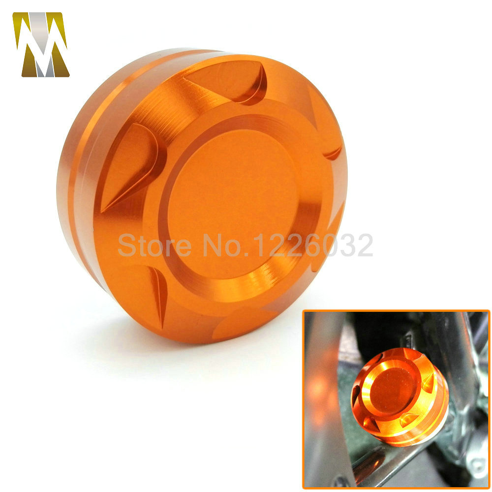 Orange Motorcycle CNC  Aluminum for KTM DUKE 125 200 390 Engine Rear Fluid Reservoir Cap Cover