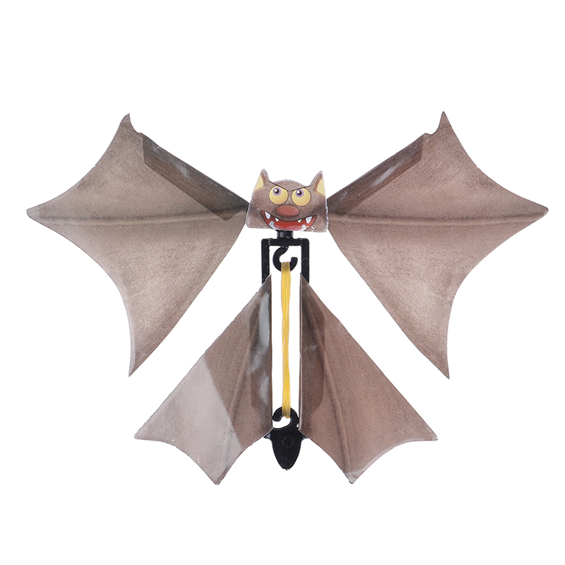 Creative Halloween Toy Children Adult Magic Flying Bat Flutter Card Prank Flying Paper Bats Halloween Fun Card Toys
