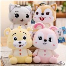 2019 new cute Soft of the little squirrel kitten figurines tiger rabbit plush toys wedding away baby ск little rabbit combo 31 34