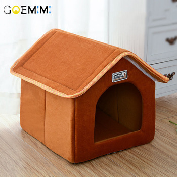 Pet House Foldable Bed With Mat Soft Winter Dog Puppy Sofa Cushion House Kennel Nest  Bed For Small Medium Dogs House For Cats hot dog house nest with mat foldable pet dog bed cat bed house for small medium dogs travel pet bed bag product