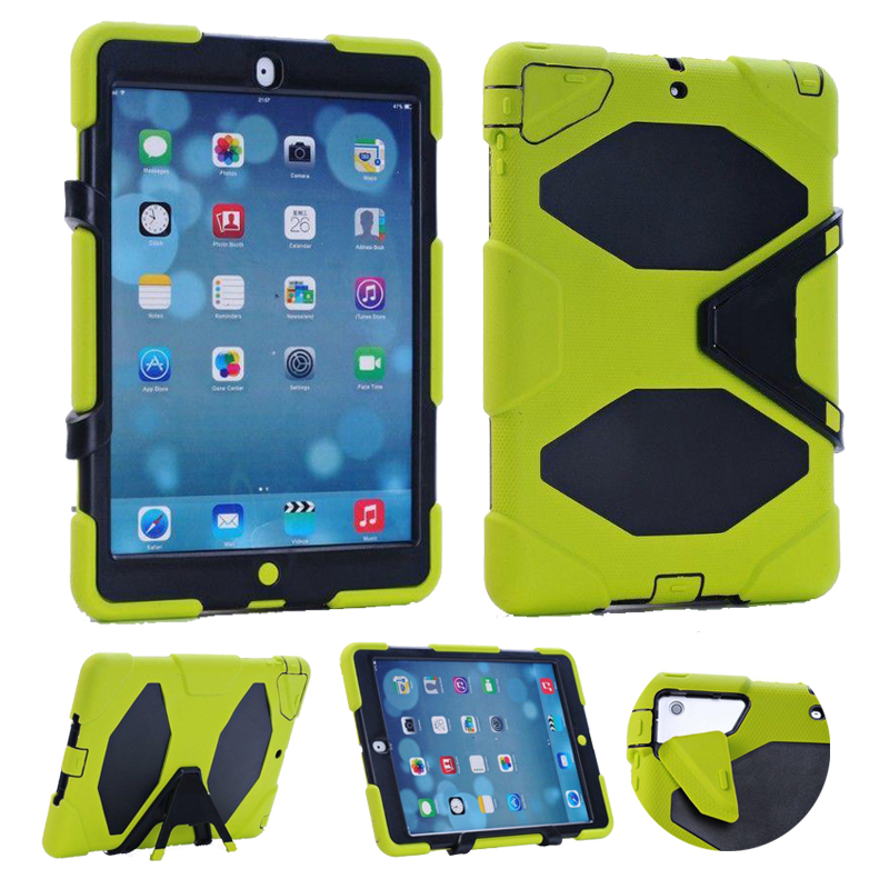 3 in 1 Hybrid Plastic+Silicon Heavy Duty Shockproof Dual Layer Rugged Military Armor Back Cover Case For iPad 4 3 2 ipad3 ipad 4