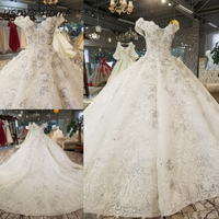 HSDYQ HOME 2018 Amazing wedding Dresses New Arrival luxury bridal dress Floor Length Vestidos lace flowers wedding party gown