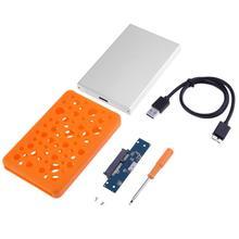 Высокая Скорость Алюминий сплав USB 3.0 SATA внешний 2.5 дюйма HDD SSD жесткий диск корпус с Силиконовый защитный крышка