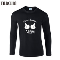 TARCHIIA Spring Fashion Man's T-shirt WORLD'S GREATEST Round Collar Long Sleeve T shirt Slim Casual Camiseta Hombre Men Clothes