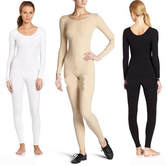 Mujeres adultas cuerpo completo Ballet danza Unitard manga larga ...
