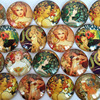 18-25mm and multi sizes round glass cabochon oil painting pictures mixed pattern fit base setting for jewelry 20pcs/lot TP-067-R