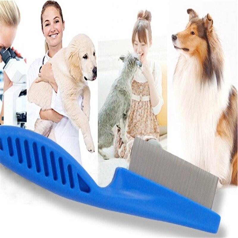 Doreenbeads резиновые собака высокое качество гребень длинные волосы чистыми Красота инструмент Блоха гребень синий 14*3 см 18*4 см (S/L) 1 шт.
