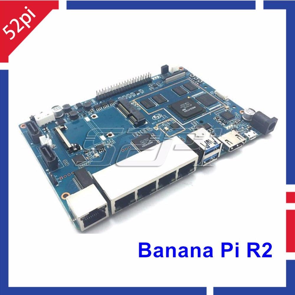 In Stock! Banana Pi R2 BPI-R2 V1.2 Quad-Core 2GB RAM With SATA WiFi Bluetooth 8GB EMMC Demo Single Board