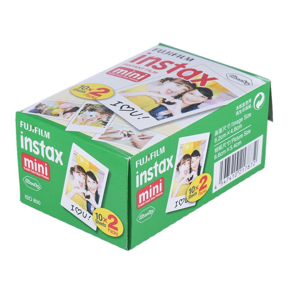 20 pièces/boîte fujifilm instax mini 8 9 film 40 feuilles pour appareil Photo instantané mini 7 s 25 50 s 90 papier Photo bord blanc film de 3 pouces de large - 2