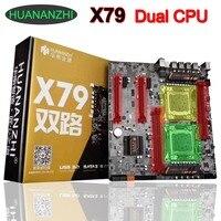 Купить лучшие материнской HUANAN Чжи двойной Процессор X79 материнская плата с двумя Процессор Слоты поддержка 4*32 г DDR3 1866 мГц памяти 6 портов SATA