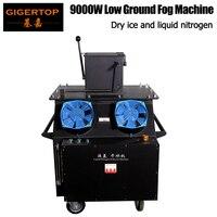 Gigertop TP T66 9000 Вт низине туман машина двойной реактивного сухой лед/жидкого азота короткого времени тепла высокое выход туман 110 В/220 В