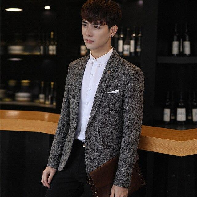 9a45ef4455ecc Nowy garnitur kurtka marki odzież męska dorywczo garnitury Koreański Slim  mały garnitur Zachodniej marynarkę mężczyźni śpiewaków