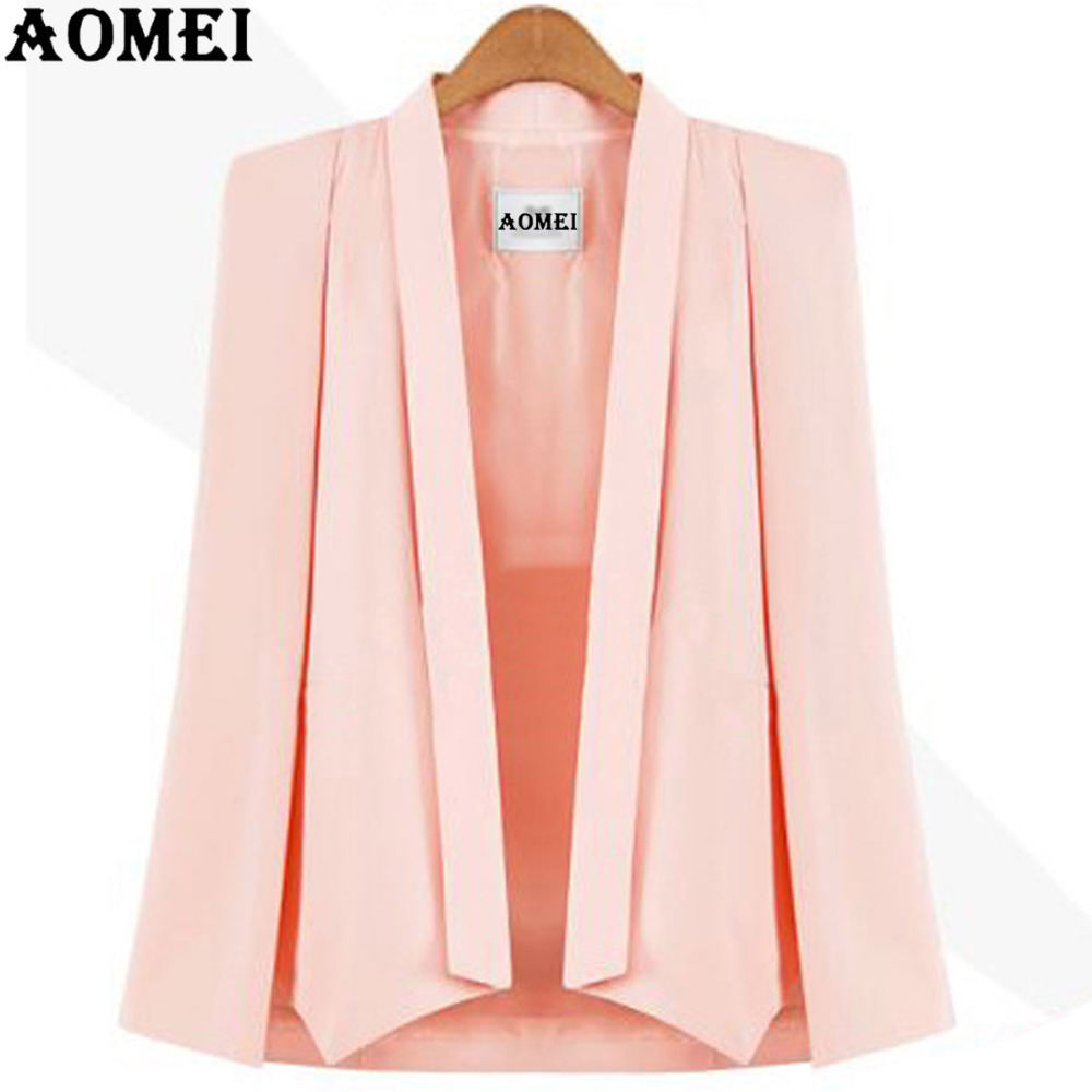 2019 Spring Women Blazer Casual Fashion Suit Solid Color Wear to Work Office Ladies Clothing Fall New Style Cloak Design Blasers