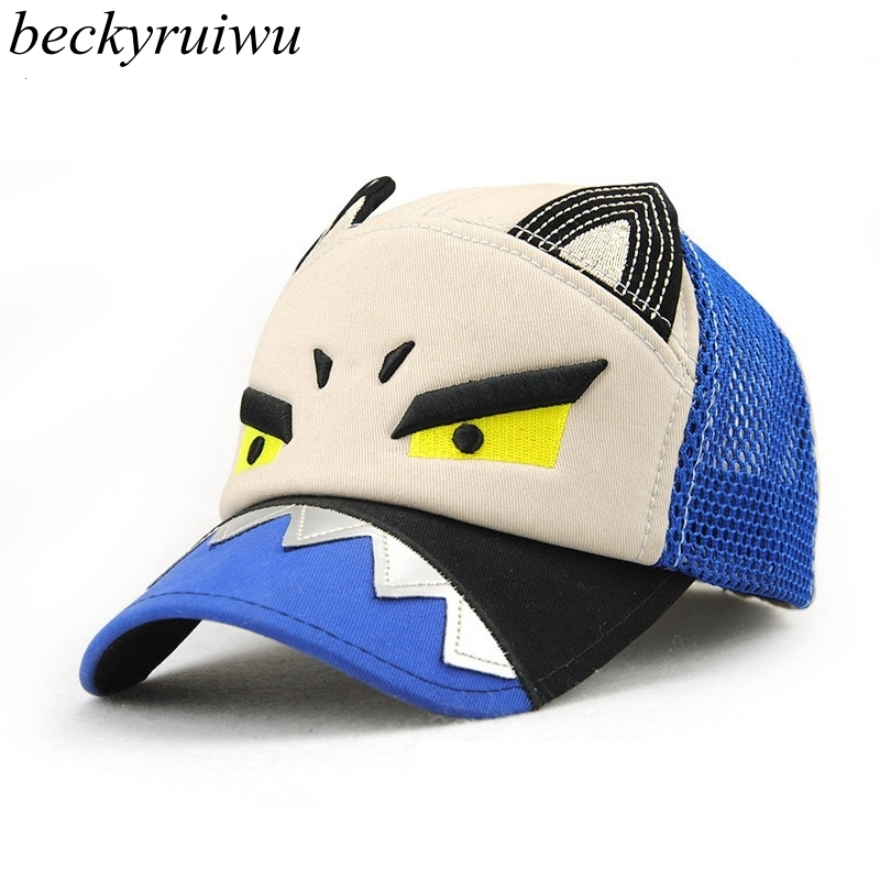 paul shark baseball cap cartoon font children caps kid comfortable cotton fin hat