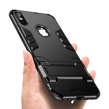 Luxury Stand Armor Phone Holder Case For iPhone 78 6 6S Plus X XS XS max Hybrid TPU+Hard PC ShockProof Cover for iphone 5 5S SE цена