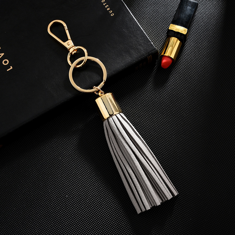 2019 New fashion Tassel Key Chain women Cute Tassel KeyChain bag accessory Silk Tassels Car Key ring fringe jewelry in Key Chains from Jewelry Accessories