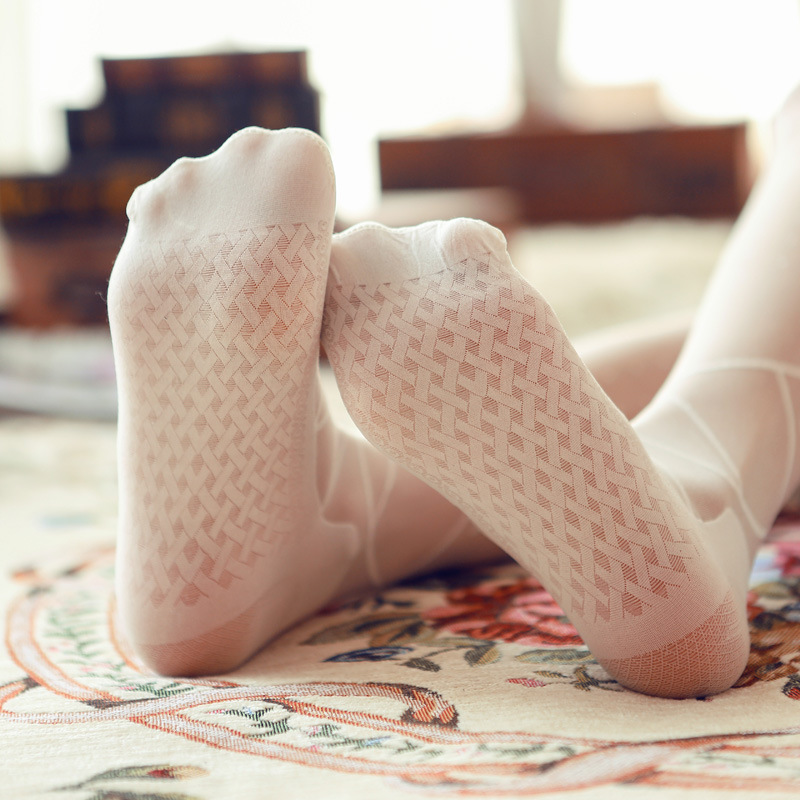 HSS Hot Bow lace Women Tights cored wire pantyhose autumn thin section jacquard stockings for Girl bottoming