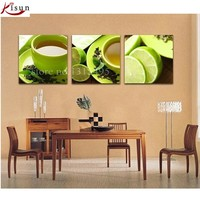 Triptych Painting Embroidered Pictures Diamond Mosaic Painting Cross Stitch Kits Three Dimensional Stickers Fruits Picture E212