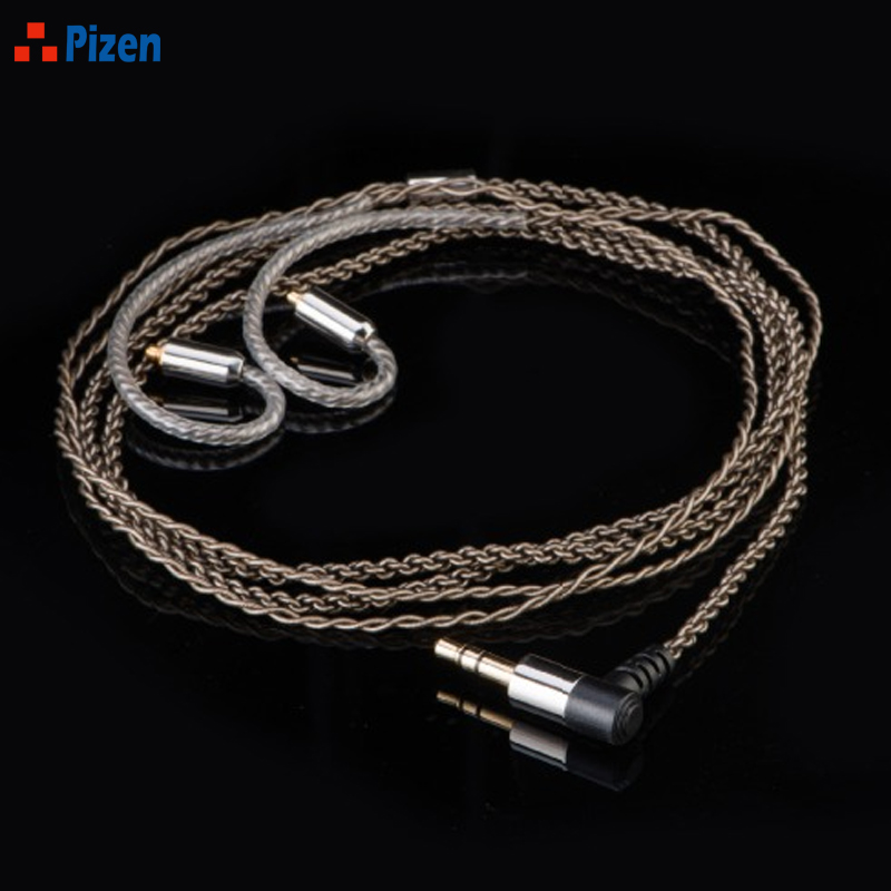 2017 NEW PIZEN S316 6N Frozen single crystal silver exchange Replacment earphone cable line for shure 215 se535 se846 ear hook