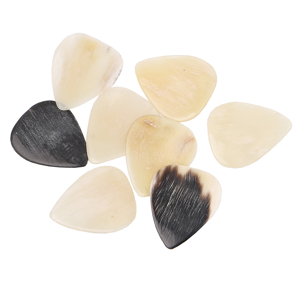 8pcs Cattle Bone Guitar Picks 0.45mm Thickness For Acoustic And Electric Guitar Bass Guitarra Pick