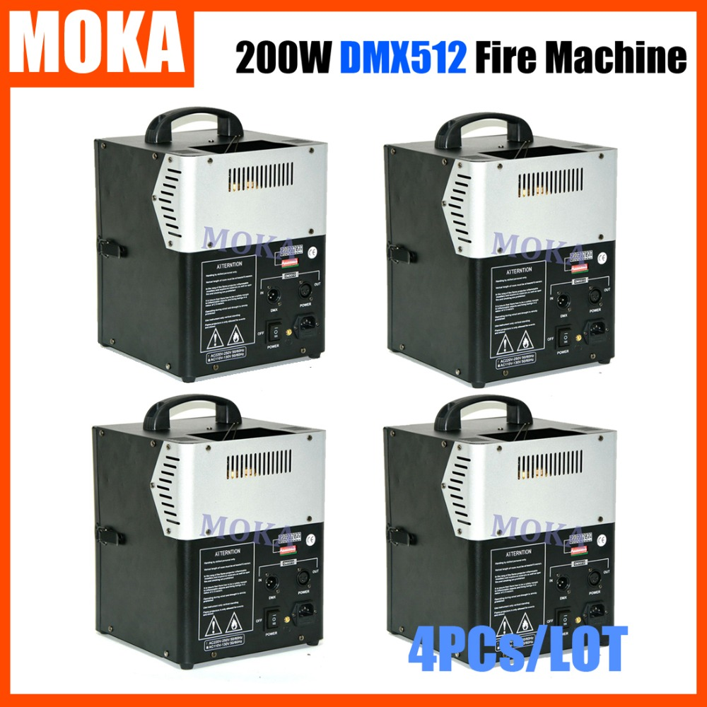 4 pc/lot DMX Fire Projector Machine 200W Fireworks Machine Flame Projector Fire Thrower Fire Machine