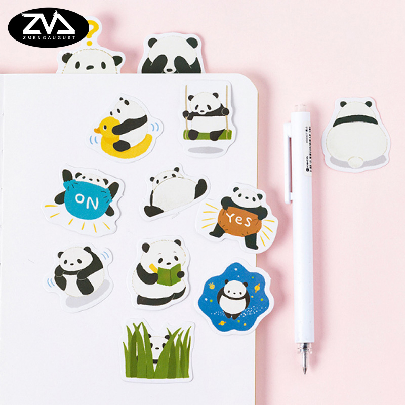 45pcs/box Fat panda sealed paper sticker DIY decoration sealed envelope  Scrapbooking Sticker Stationery kawaii stickers
