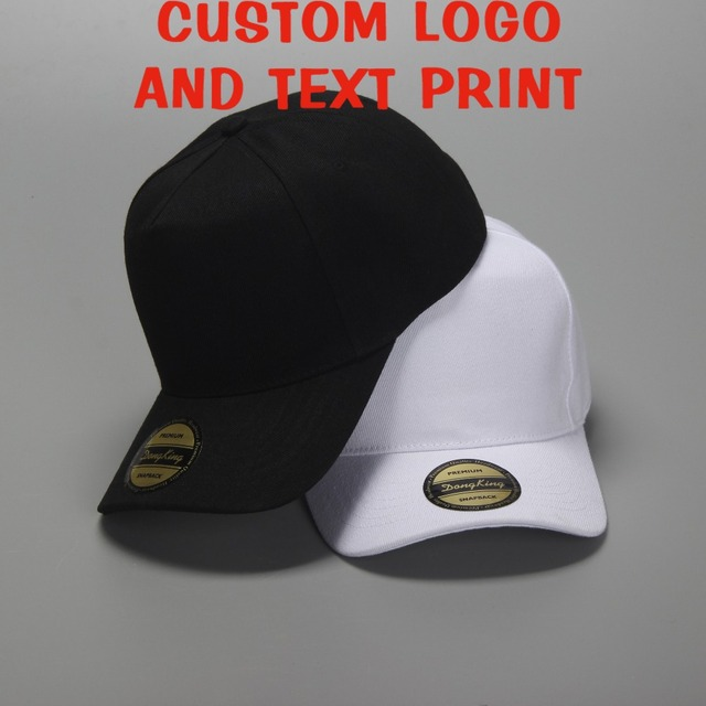 09660795fdc Free shipping Custom Logo Unisex Blank Hats Customized Baseball Caps LOGO  Printing Adult Hats Casual Hat