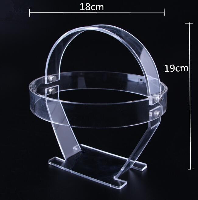 Bicycle helmet Led Headlamp display stand acrylic Headlight Waterproof Hunting Flashlight shelf cap hat wig holder rack in Storage Holders Racks from Home Garden