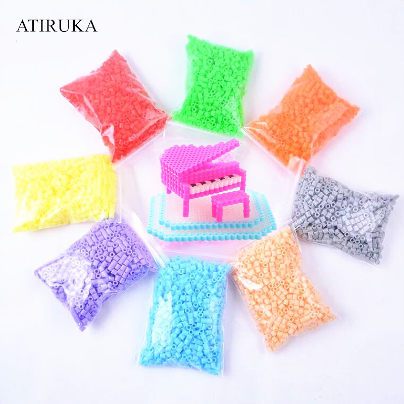 5mm Hama Beads Puzzle Education Toys Juguetes 3D Puzzles Jigsaw Puzzle 48 Colors Perler Beads Fuse Beads For Kids 500PCS/Bag