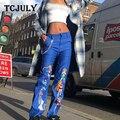 Брюки с принтом «Pokemon Sailor Moon» TCJULY  брюки с цепочкой для женщин  уличная одежда  повседневные шаровары  новый дизайн