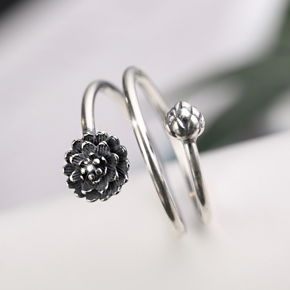 Women's Multilayer Style Lotus Ring 5