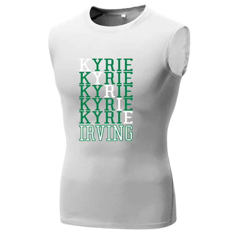 sale retailer ec54b 21ee7 US $15.35 17% OFF|kyrie irving boston jersey t shirt compression shirt men  sleeveless kyrie irving t shirts tank vest kyrie 2 3 irving 11 tshirt-in ...