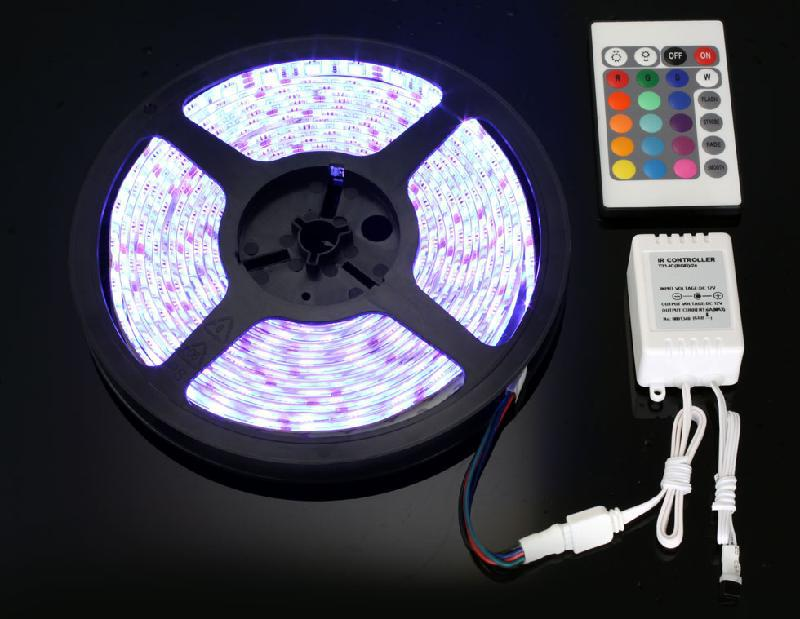 Lights & Lighting Wholesale 5m Smd Led 5050 Rgb Strips And 24 Key Ir Remote Control And 12v 6a Power Supply Us/eu/uk/au Warm White Yellow 60leds/m Led Strips