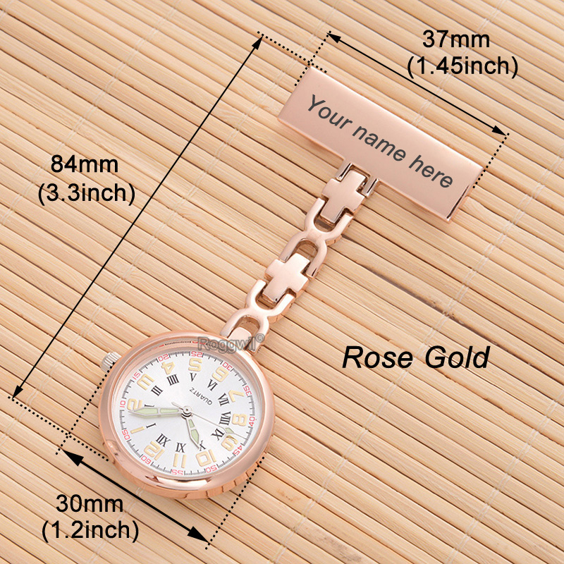 Nurse watch rose gold logo