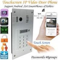 Глобальный 3G/4 г Беспроводной Wi Fi сенсорный экран видео двери телефон Embedded дверной Звонок ip Камера домофон
